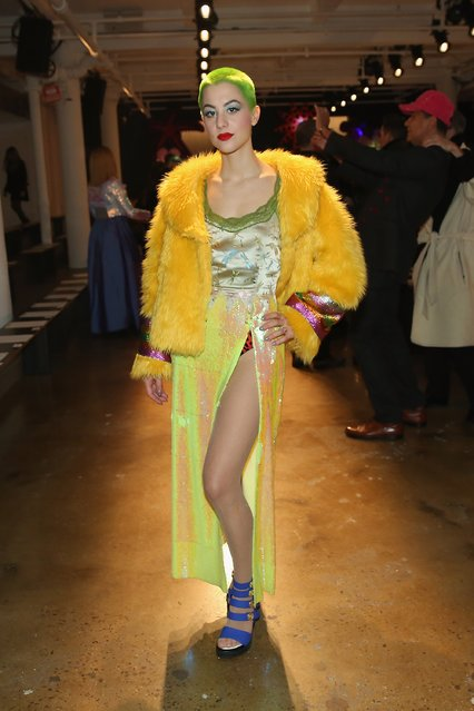 Tea Hacic attends The Blonds fashion show during Fall 2016 MADE Fashion Week at Milk Studios on February 17, 2016 in New York City. (Photo by Monica Schipper/Getty Images)