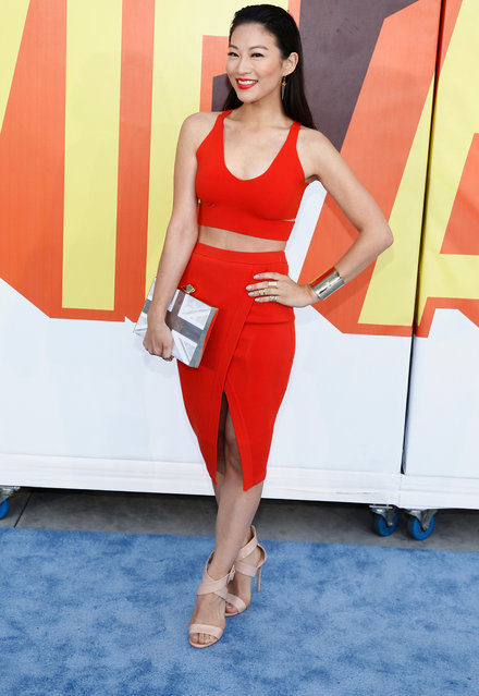 Actress Arden Cho attends The 2015 MTV Movie Awards at Nokia Theatre L.A. Live on April 12, 2015 in Los Angeles, California. (Photo by Rich Polk/Getty Images for MTV)