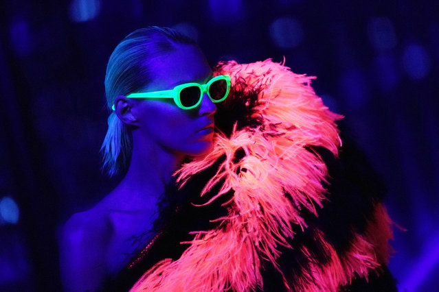 Model Anja Rubik walks the runway during the Saint Laurent show as part of the Paris Fashion Week Womenswear Fall/Winter 2019/2020 on February 26, 2019 in Paris, France. (Photo by Vittorio Zunino Celotto/Getty Images)