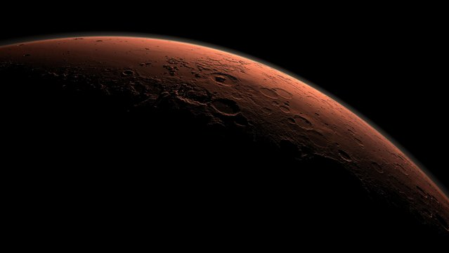 This computer-generated view depicts part of Mars at the boundary between darkness and daylight, with an area including Gale Crater beginning to catch morning light, in this handout image provided by NASA. It may not be space debris, errant asteroids, supply shortages, thruster malfunctions or even the malevolent aliens envisioned in so many Hollywood films that thwart astronauts on any mission to Mars. (Photo by Reuters/NASA/JPL-Caltech)