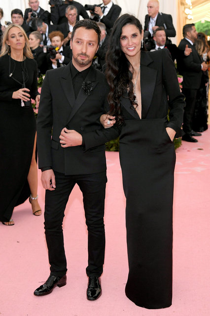 Anthony Vaccarello and Demi Moore attend The 2019 Met Gala Celebrating Camp: Notes on Fashion at Metropolitan Museum of Art on May 06, 2019 in New York City. (Photo by Neilson Barnard/Getty Images)