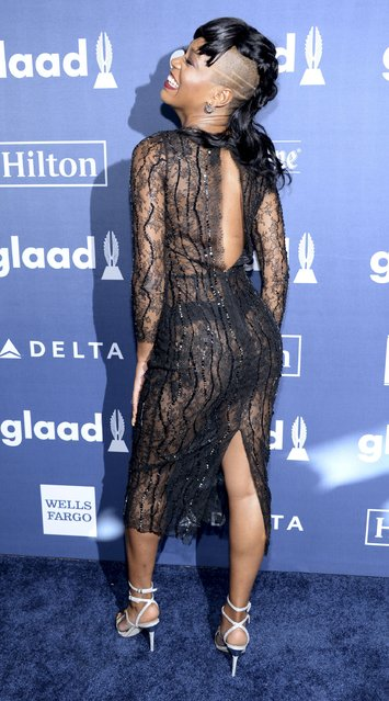 Keke Palmer attends the 27th annual GLAAD Media Awards in Beverly Hills, California April 2, 2016. (Photo by Phil McCarten/Reuters)