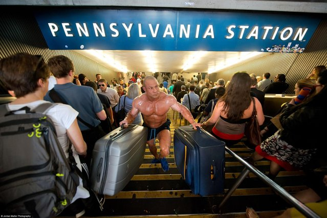 """Business Travel"" – Vincent Iuzzolino – Bodybuilder & Kickboxer. (Photo by Jordan Matter)"