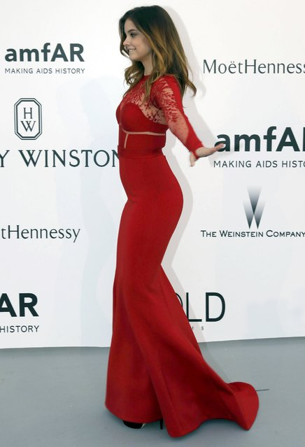 Model Barbara Palvin poses during a photocall as she arrives to attend the amfAR's Cinema Against AIDS 2015 event during the 68th Cannes Film Festival in Antibes, near Cannes, southern France, May 21, 2015. (Photo by Regis Duvignau/Reuters)