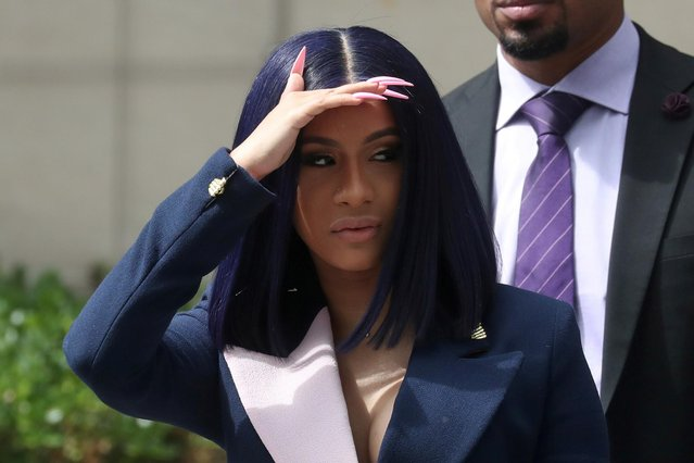 Singer Cardi B leaves Queens County Criminal Court in the Queens Borough of New York, U.S., June 25, 2019. (Photo by Shannon Stapleton/Reuters)