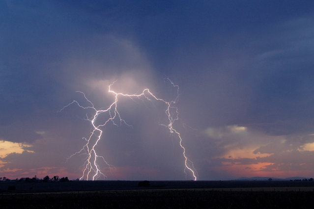 """Lightning Flash Photography"". Clifton, Queensland, Australia – November 18, 2009. (Photo by Michael Bath/Caters News)"