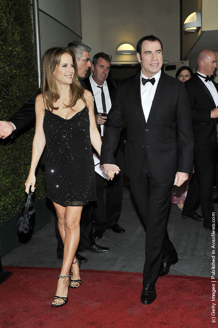 John Travolta and Kelly Preston arrives for the 9th Annual G'Day USA Los Angeles Black Tie gala