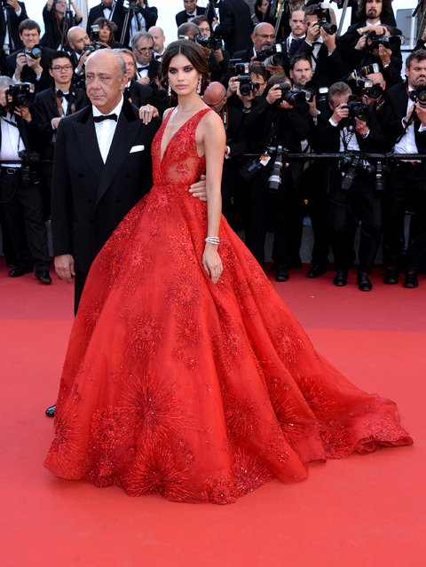 """Fawaz Gruosi and Sara Sampaio attend the """"Ismael's Ghosts (Les Fantomes d'Ismael)"""" screening and Opening Gala during the 70th annual Cannes Film Festival at Palais des Festivals on May 17, 2017 in Cannes, France. (Photo by Anthony Harvey/FilmMagic)"""