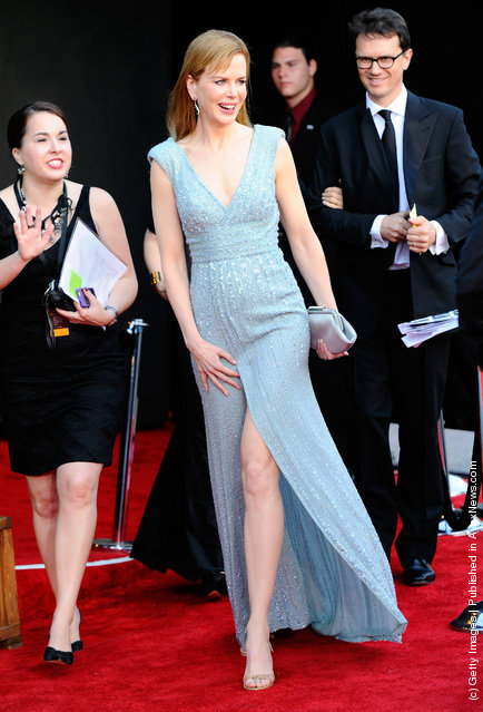 Actress Nicole Kidman arrives at the BAFTA Brits To Watch event held at the Belasco Theatre