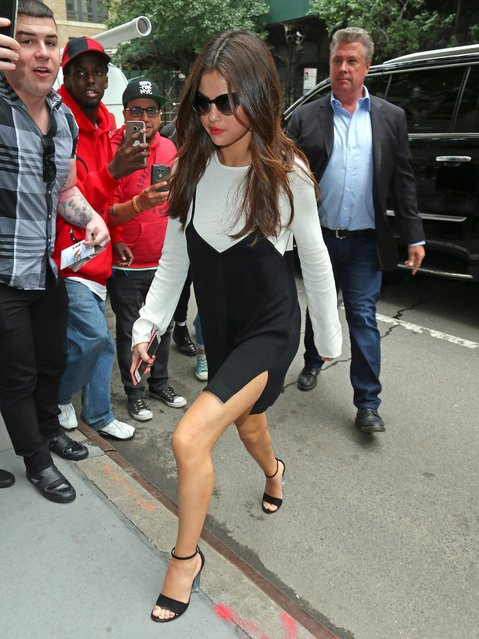 Selena Gomez seen out in Manhattan on June 5, 2017 in New York City. (Photo by Splash News and Pictures)