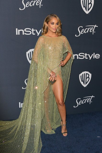 Model Jasmine Sanders attends the 21st Annual InStyle And Warner Bros. Pictures Golden Globe After-Party in Beverly Hills, California on January 5, 2020. (Photo by Jean-Baptiste Lacroix/AFP Photo)