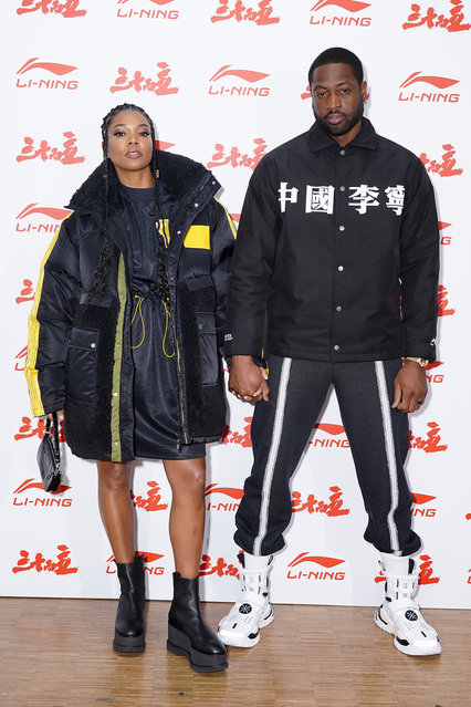 Gabrielle Union and Dwyane Wade attend the Li-Ning Menswear Fall/Winter 2020-2021 show as part of Paris Fashion Week on January 18, 2020 in Paris, France. (Photo by Francois Durand/Getty Images)