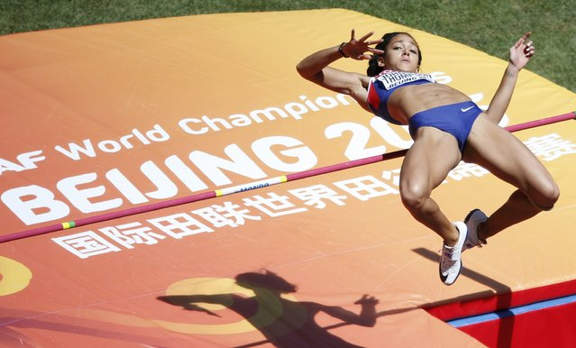 Katarina Johnson-Thompson of Britain competes in the high jump event of the women's heptathlon during the 15th IAAF World Championships at the National Stadium in Beijing, China August 22, 2015. (Photo by Fabrizio Bensch/Reuters)