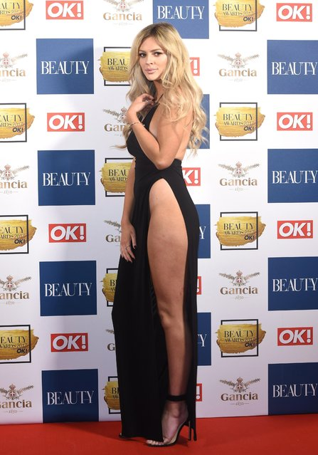 Danielle Sellers attends The Beauty Awards at Tower of London on November 28, 2017 in London, England. (Photo by Goff Photos)