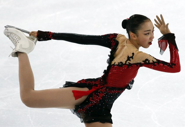 Japan's Rika Hongo performs during the ladies free skating program at the Rostelecom Cup ISU Grand Prix of Figure Skating in Moscow November 15, 2014. (Photo by Grigory Dukor/Reuters)