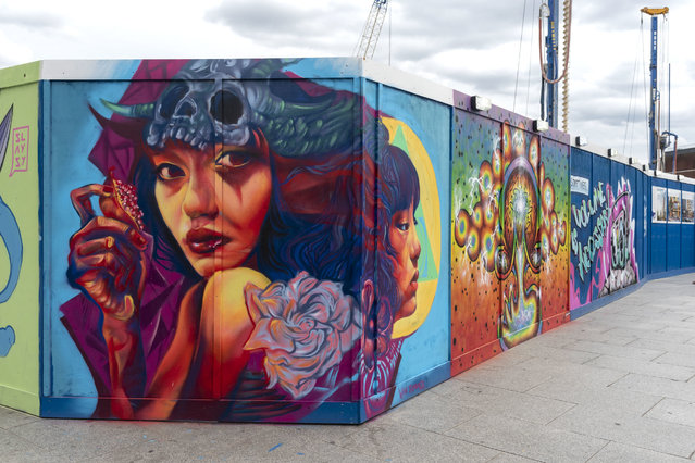 A mural by street artist Van Jimmer on a Balfour Beatty hoarding in Lewisham, London on September 6, 2020. (Photo by Dave Rushen/SOPA Images/Sipa USA)