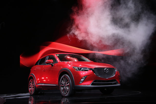 The 2016 Mazda CX-3 is unveiled at the Los Angeles Auto Show Wednesday, November 19, 2014, in Los Angeles. (Photo by Jae C. Hong/AP Photo)