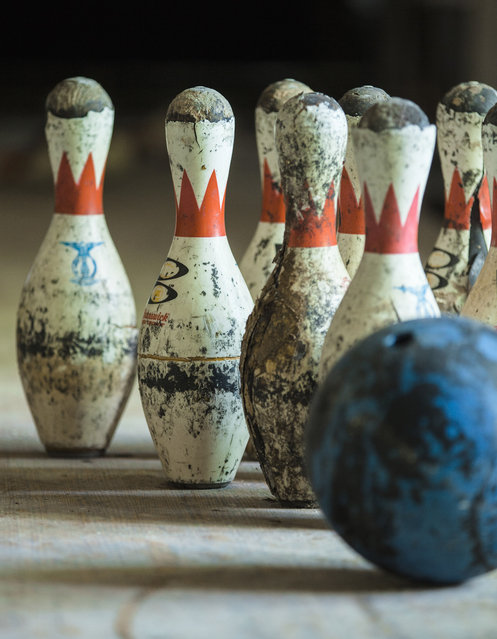 Compared to the bowling balls, the pins were scarce. Many had been stolen over the years. (Photo by Will Ellis/Caters News)