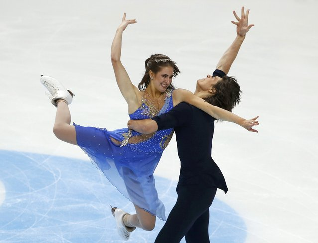 Figure Skating, ISU Grand Prix Rostelecom Cup 2016/2017, Ice Dance Free Dance in Moscow, Russia on November 5, 2016. Elliana Pogrebinsky and Alex Benoit of the U.S. compete. (Photo by Grigory Dukor/Reuters)