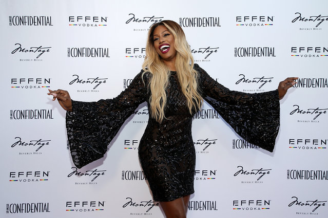 Laverne Cox attends the Los Angeles Confidential Celebration for Portraits of Pride with GLAAD and Laverne Cox on June 4, 2018 in Beverly Hills, California. (Photo by Phillip Faraone/Getty Images for Los Angeles Condfidential)