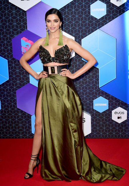 Deepika Padukone poses for photographers upon arrival at the MTV European Music Awards 2016 in Rotterdam, Netherlands, Sunday, November 6, 2016. (Photo by PA Wire)
