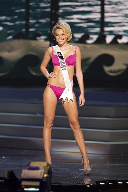 Josefin Donat, Miss Germany 2014, competes in the swimwear competition during the Miss Universe Preliminary Show in Miami, Florida in this January 21, 2015 handout photo. (Photo by Reuters/Miss Universe Organization)