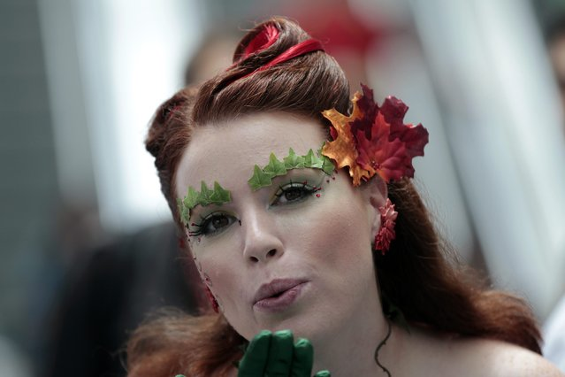 Attendee Autumn Breeze, who is dressed like the comic character Poison Ivy, poses during Comic-Con international convention in San Diego, California July 13, 2012. (Photo by Mario Anzuoni/Reuters)
