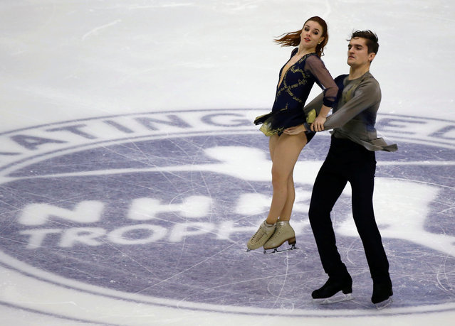 Figure Skating, ISU Grand Prix of Figure Skating NHK Trophy 2016/2017, Ice Dance Free Dance, Sapporo, Japan on November 27, 2016. Romain Le Gac and Marie-Jade Lauriault of France compete. (Photo by Issei Kato/Reuters)