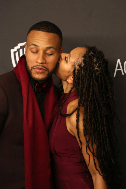 Writer DeVon Franklin and Actress Meagan Good (R) attend the 17th Annual Instyle and Warner Bros. Pictures Golden Globes After Party in Beverly Hills, California January 10, 2016. (Photo by David McNew/Reuters)