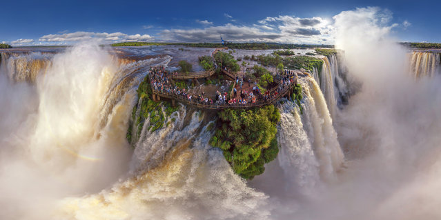 Iguasu Falls, Argentina. (Photo by Airpano/Caters News)
