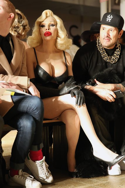 Amanda Lepore attends The Blonds fashion show during Fall 2016 MADE Fashion Week at Milk Studios on February 17, 2016 in New York City. (Photo by Monica Schipper/Getty Images)