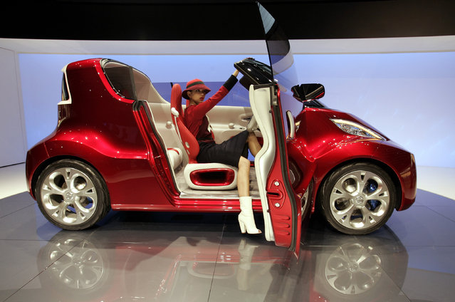 Nissan's concept car R.D/B.X is displayed during 40th Tokyo Motor Show in Chiba Wednesday, October 24, 2007. (Photo by Yuriko Nakao/Reuters)