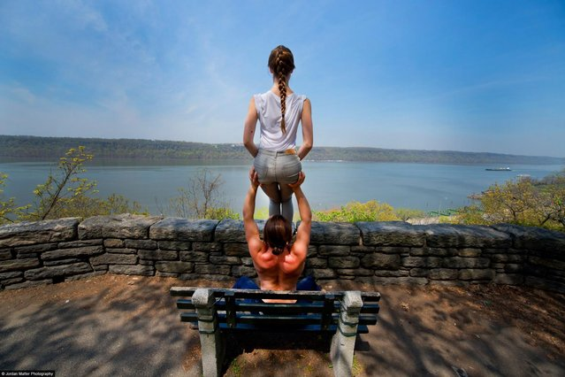 """River View"" – Jacob Jonas & Jill Wilson – Acro Yoga Specialists. (Photo by Jordan Matter)"