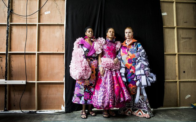 Models backstage during the GFW Collective show at Graduate Fashion Week at The Truman Brewery on June 02, 2019 in London, England. (Photo by Tristan Fewings/Getty Images)