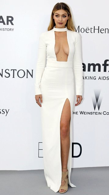 Model Gigi Hadid poses during a photocall as she arrives to attend the amfAR's Cinema Against AIDS 2015 event during the 68th Cannes Film Festival in Antibes, near Cannes, southern France, May 21, 2015. (Photo by Regis Duvignau/Reuters)