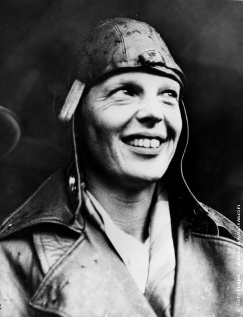 1932: American aviator Amelia Earhart arriving in  London having become the first woman to fly across the Atlantic alone