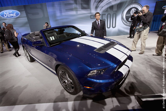 Ford introduces the Shelby Mustang GT500 convertible during the media preview of the Chicago Auto Show