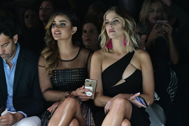 Clarissa Molina and Daniela Di Giacomo seen front row at the Silvia Tcherassi Show during Miami Fashion Week at Ice Palace Film Studios on June 1, 2017 in Miami, Florida. (Photo by Gustavo Caballero/Getty Images for Miami Fashion Week)
