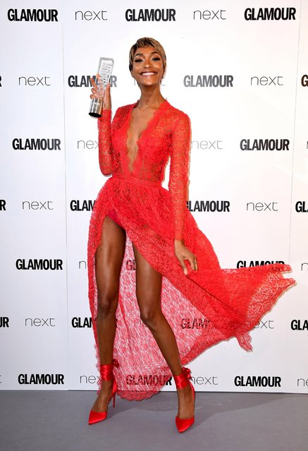 Model  Jourdan Dunn attends the Glamour Women of The Year Awards 2017 at Berkeley Square Gardens on June 6, 2017 in London, England. (Photo by PA Wire)