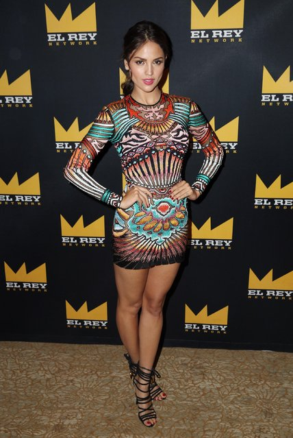 "Eiza Gonzalez poses for a photo before the El Rey Network ""From Dusk Till Dawn: The Series"" panel during the 2015 Summer TCA in Beverly Hills, Calif. on Thursday, July 30, 2015. (Photo by Matt Sayles/Invision for El Rey Network/AP Images)"