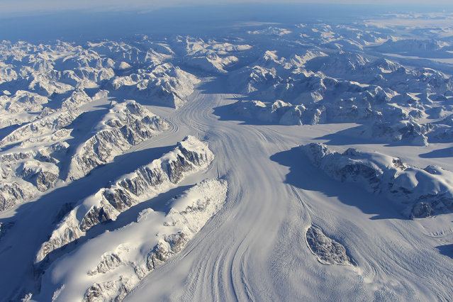 Heimdal Glacier in southern Greenland. (Photo by John Sonntag/Reuters/NASA)