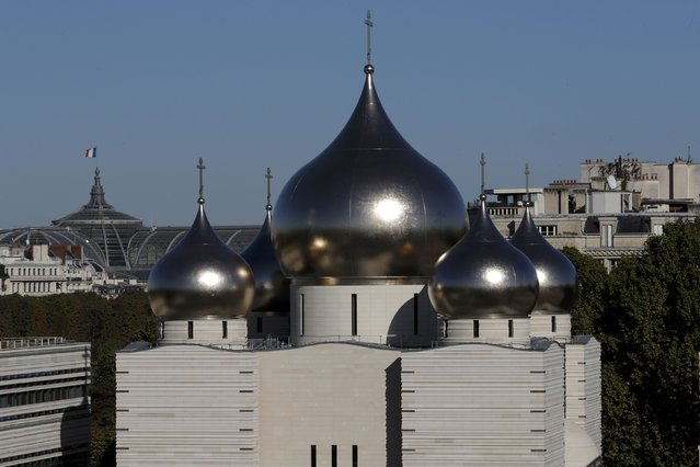 A view shows the Russian Orthodox Cathedral Sainte-Trinite and spiritual centre before its inauguration in Paris, France, October 4, 2016. (Photo by Philippe Wojazer/Reuters)