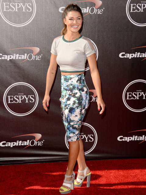 Actress Jessica Szohr attends The 2014 ESPY Awards at Nokia Theatre L.A. Live on July 16, 2014 in Los Angeles, California. (Photo by Jason Merritt/Getty Images)