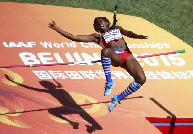 Yorgelis Rodriguez of Cuba competes in the high jump event of the women's heptathlon during the 15th IAAF World Championships at the National Stadium in Beijing, China August 22, 2015. (Photo by Fabrizio Bensch/Reuters)