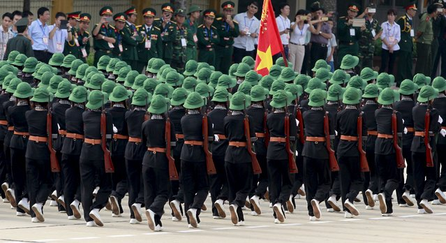 Southern Vietnamese female paramilitants march during a parade marking their 70th National Day at Ba Dinh square in Hanoi, Vietnam September 2, 2015. (Photo by Reuters/Kham)