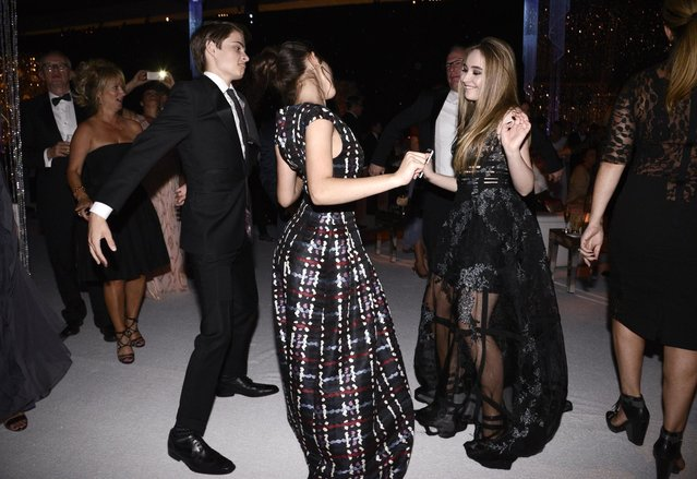 Rowan Blanchard and Sabrina Carpenter attend the Governors Ball for the Television Academy's Creative Arts Emmy Awards at Microsoft Theater on Saturday, September 12, 2015, in Los Angeles. (Photo by Dan Steinberg/Invision for the Television Academy/AP Images)
