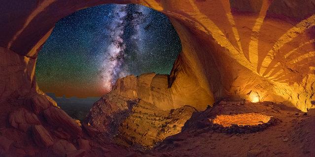 False Kiva, Utah. (Photo by Wayne Pinkston/Caters News)