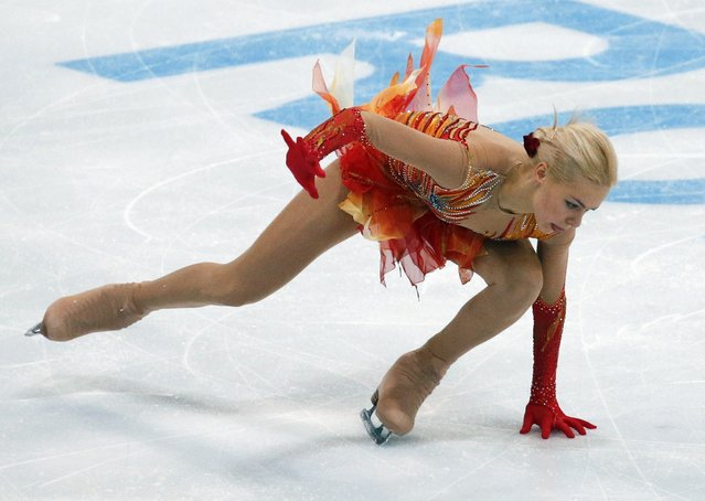 Russia's Anna Pogorilaya performs during the ladies free skating program at the Rostelecom Cup ISU Grand Prix of Figure Skating in Moscow November 15, 2014. (Photo by Grigory Dukor/Reuters)