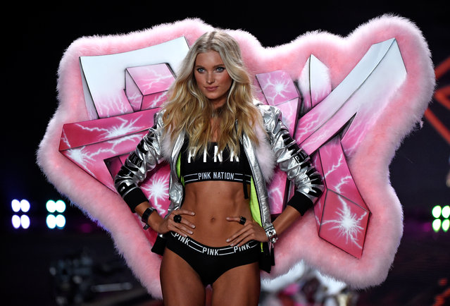 Model Elsa Hosk walks the runway at the annual Victoria's Secret fashion show at Earls Court on December 2, 2014 in London, England. (Photo by Pascal Le Segretain/Getty Images)