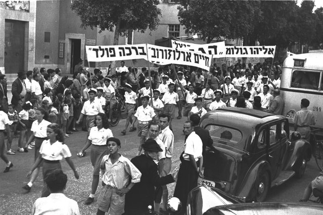 May Day Parade in Tel Aviv, 1947